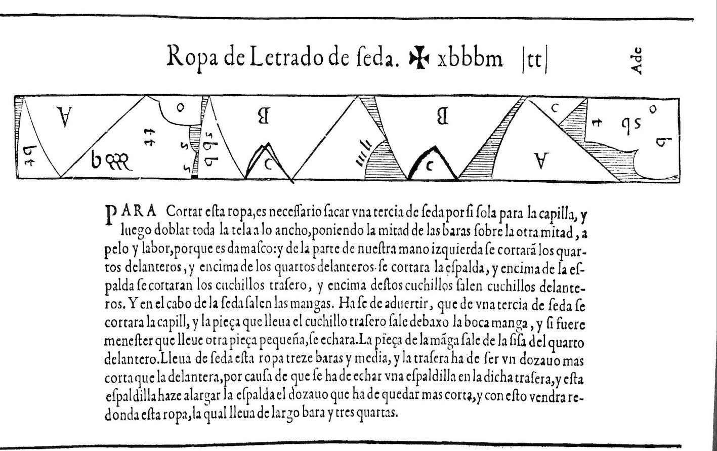 """Learned man's gown of silk, Libro de Geometria."""
