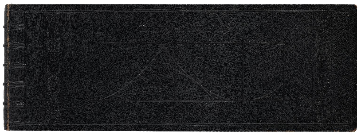 """""""Book cover, Geometria y traça para el oficio de los sastres (1588), Diego de Freyle."""""""