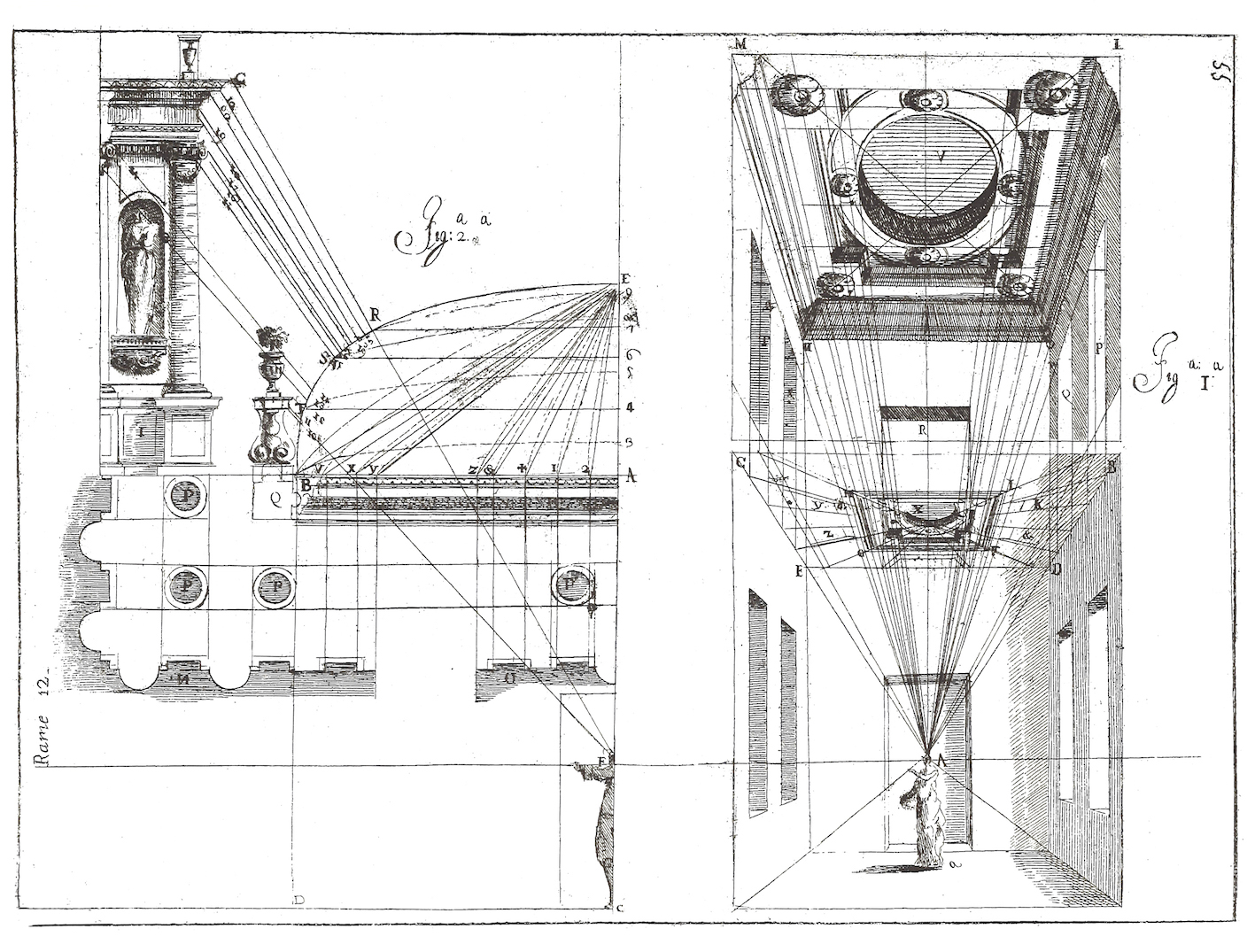 """Ferdinando Galli Bibbiena, L'architettura civile, Parma 1711, part fourth, plate 12."""
