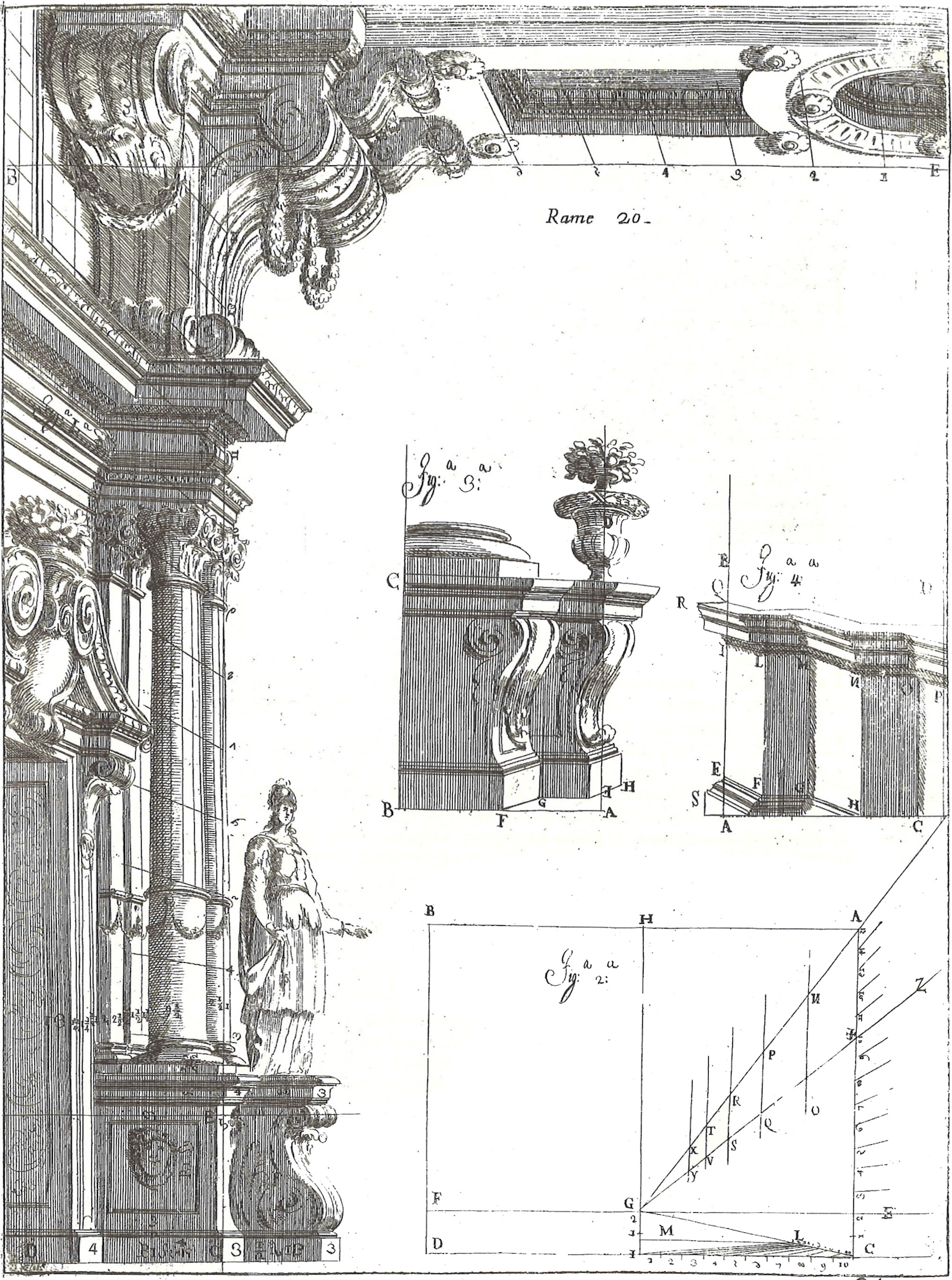 """Ferdinando Galli Bibbiena, L'architettura civile, Parma 1711, part fourth, plate 20."""
