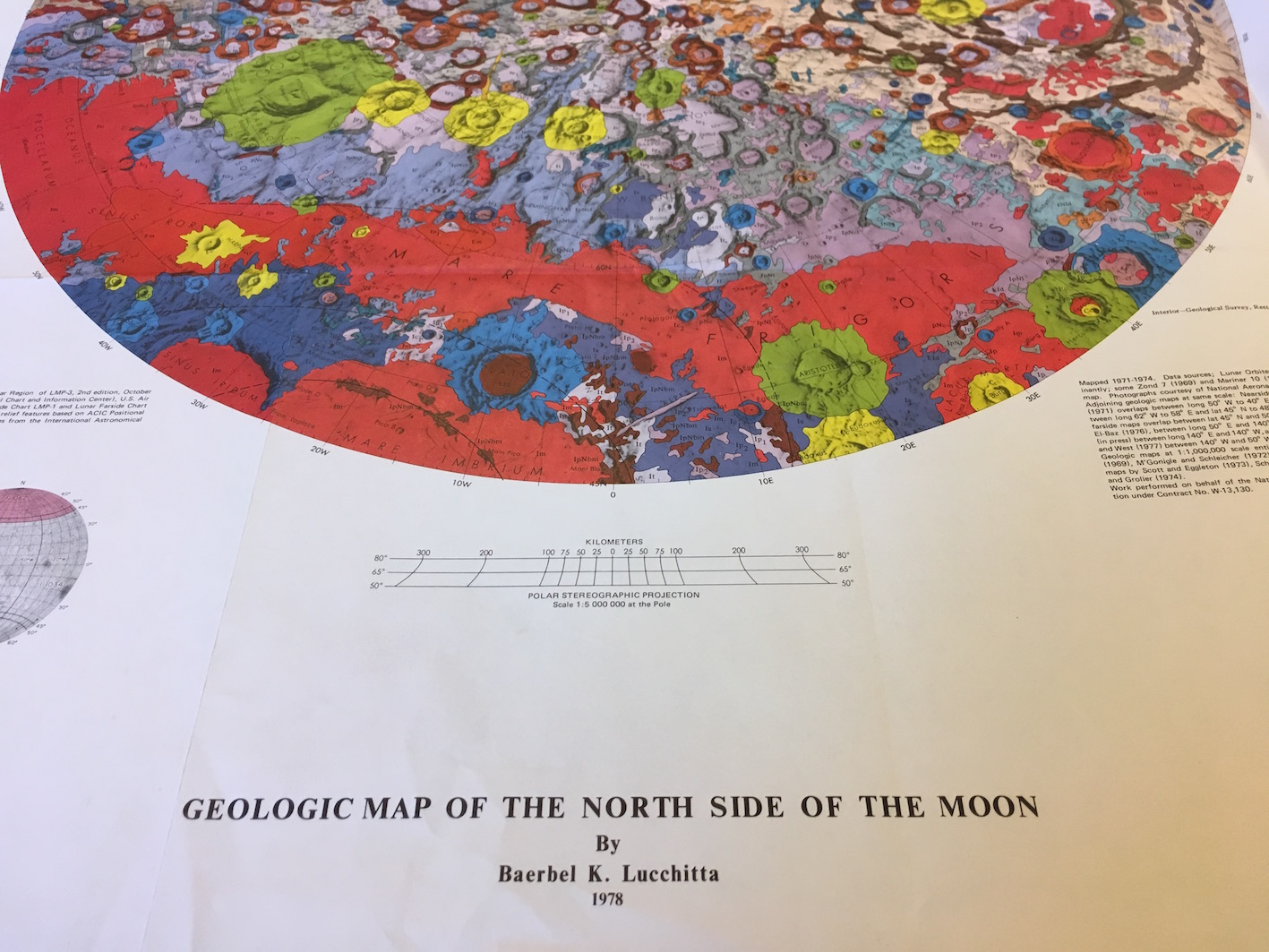 Geological map of the North side of the Moon (1978), BOD, A4 (59), detail.