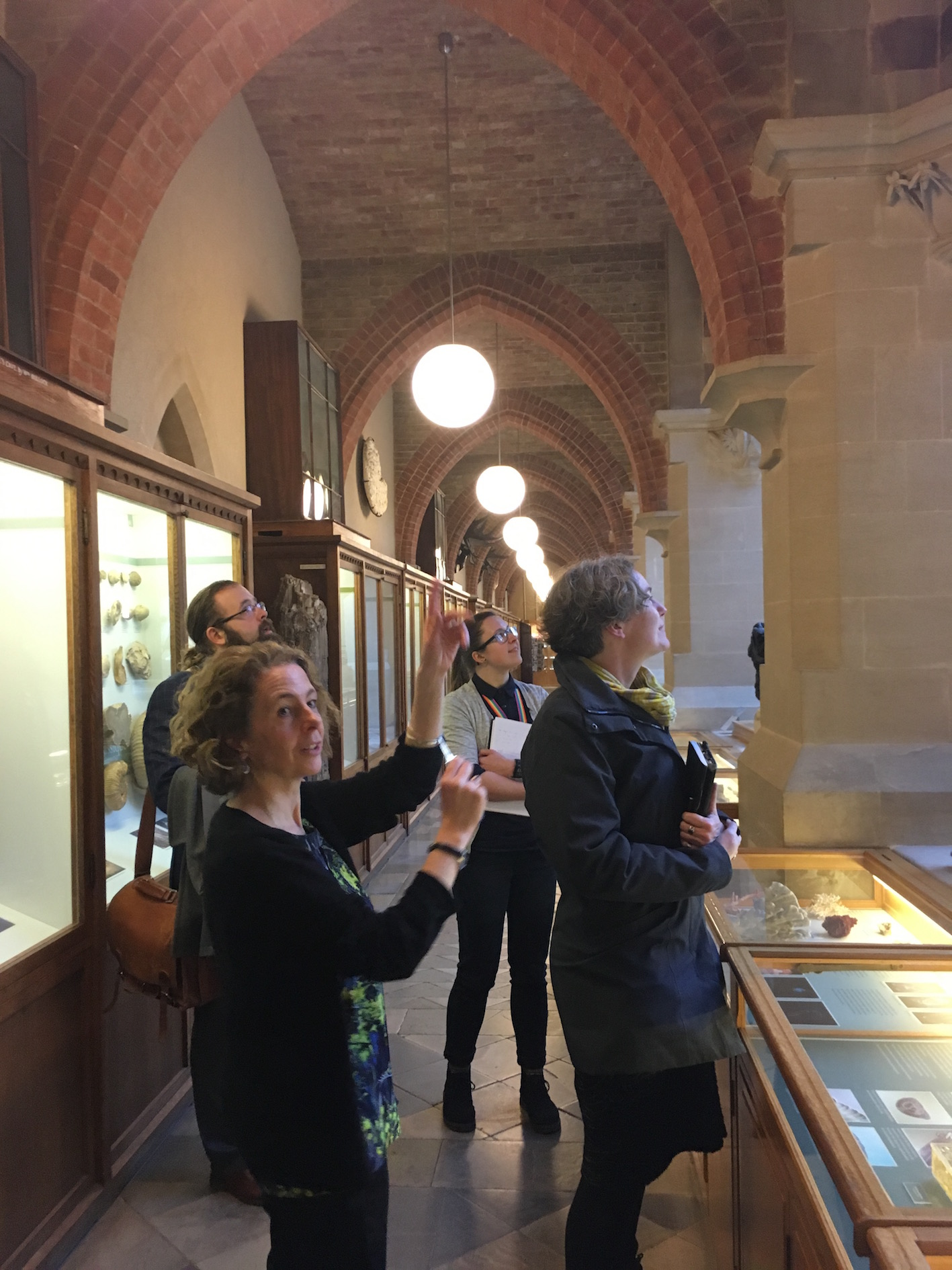 Janet Stott, Madeline Slaven, Daryl Green, and Kelly Richards casting their eyes on the wonderful building which houses the Oxford University Museum of Natural History.