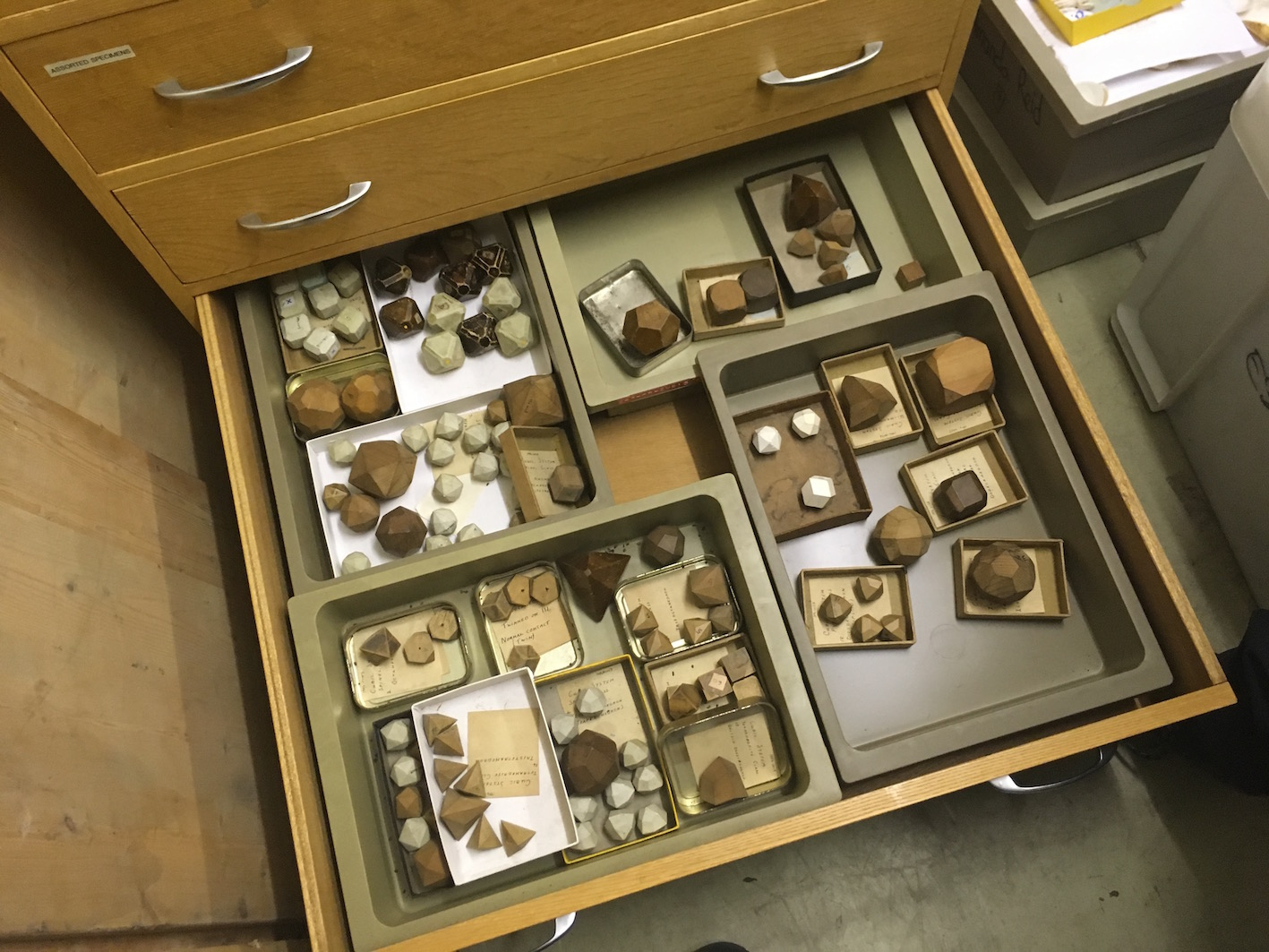 """Inspecting drawers and boxes in the School of Earth and Environmental Sciences."""