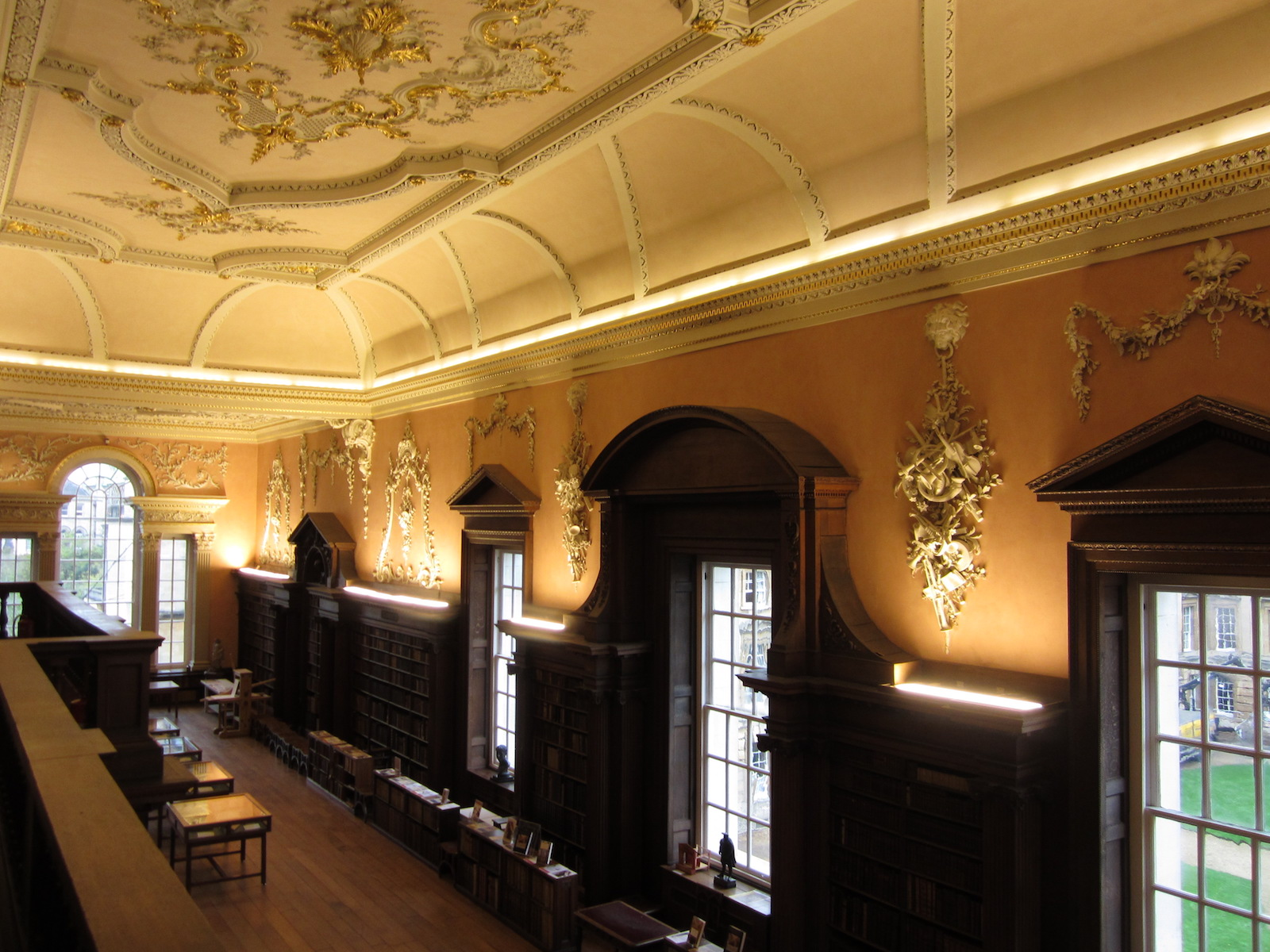"""Christ Church Library, view from the balcony"""