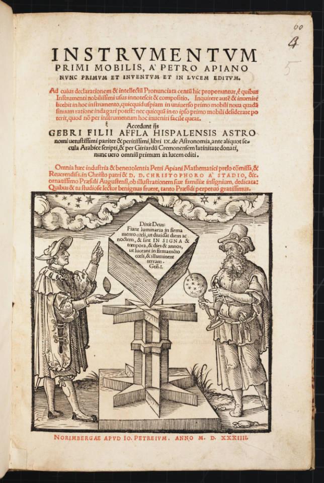 """Apian's Instrumentum Title Page."""
