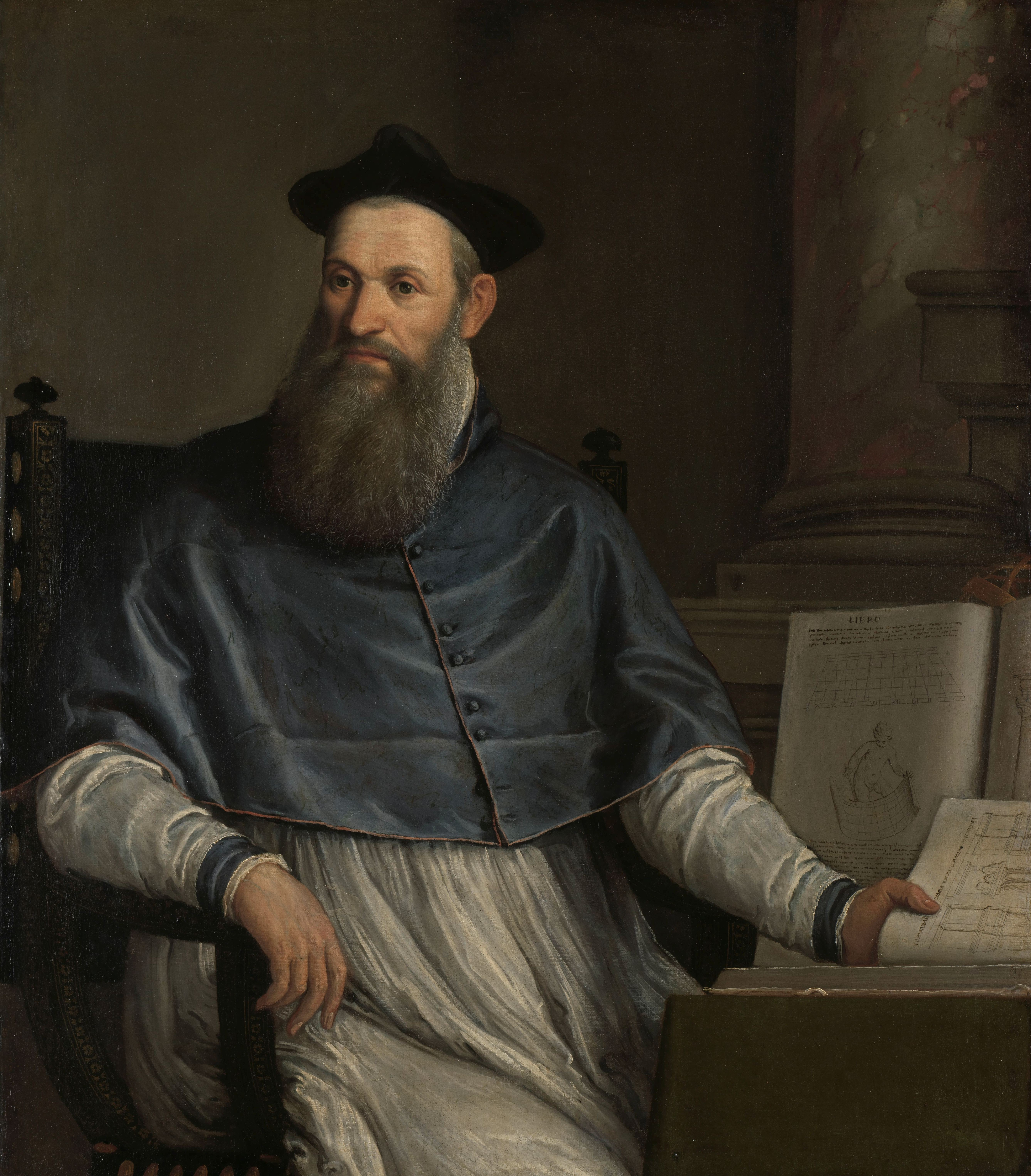 """Paolo Veronese, Portrait of Daniele Barbaro, 1556-67, Amsterdam, Rijksmuseum, SK-A-4011."""