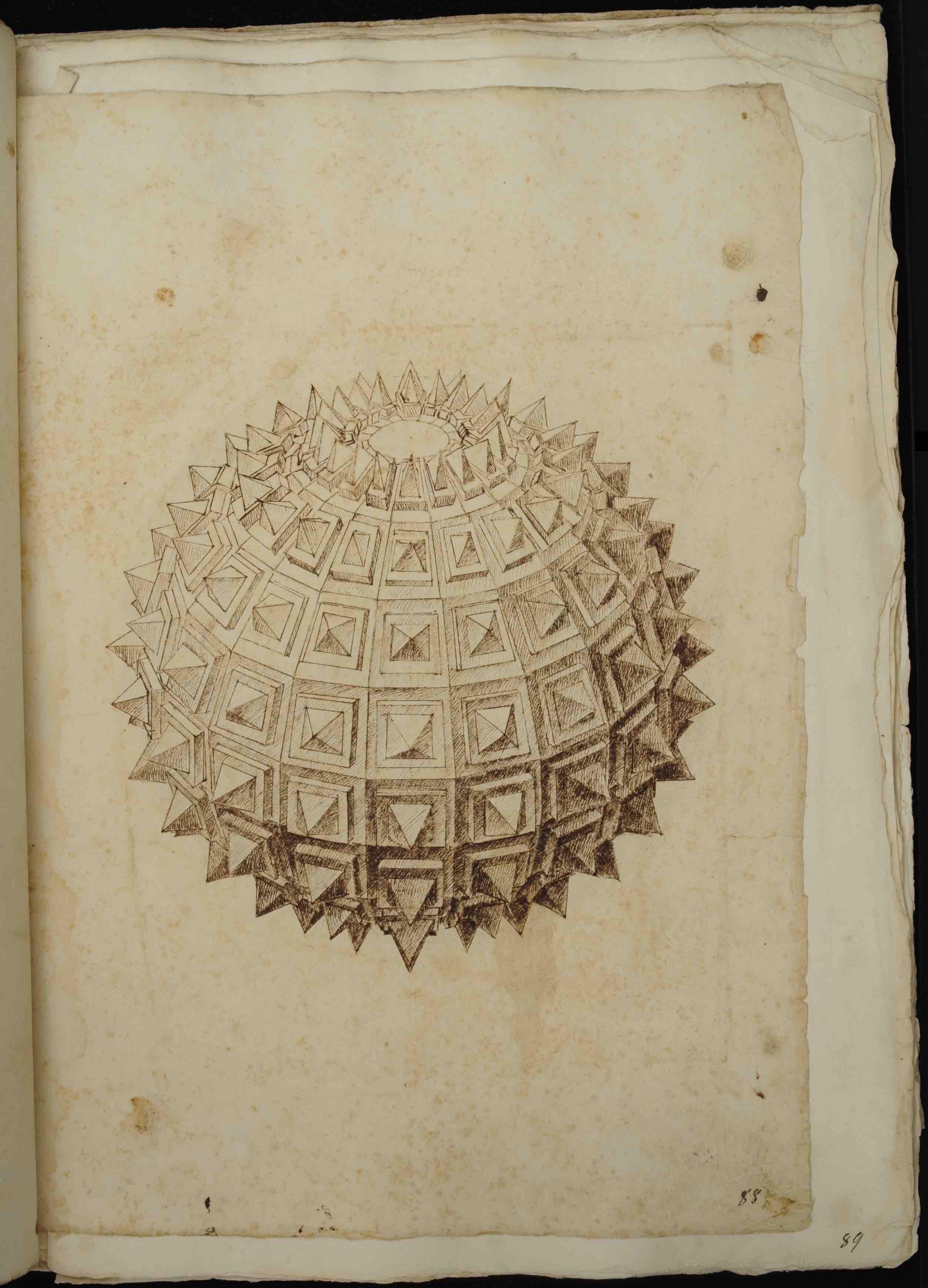 """""""Biblioteca Nazionale Marciana, It. IV, 41 (=3069), c. 88r, then published in Daniele Barbaro, *La pratica della perspettiva* (Venice: Camillo and Rutilio Borgominieri, 1568-69), p. 162."""""""