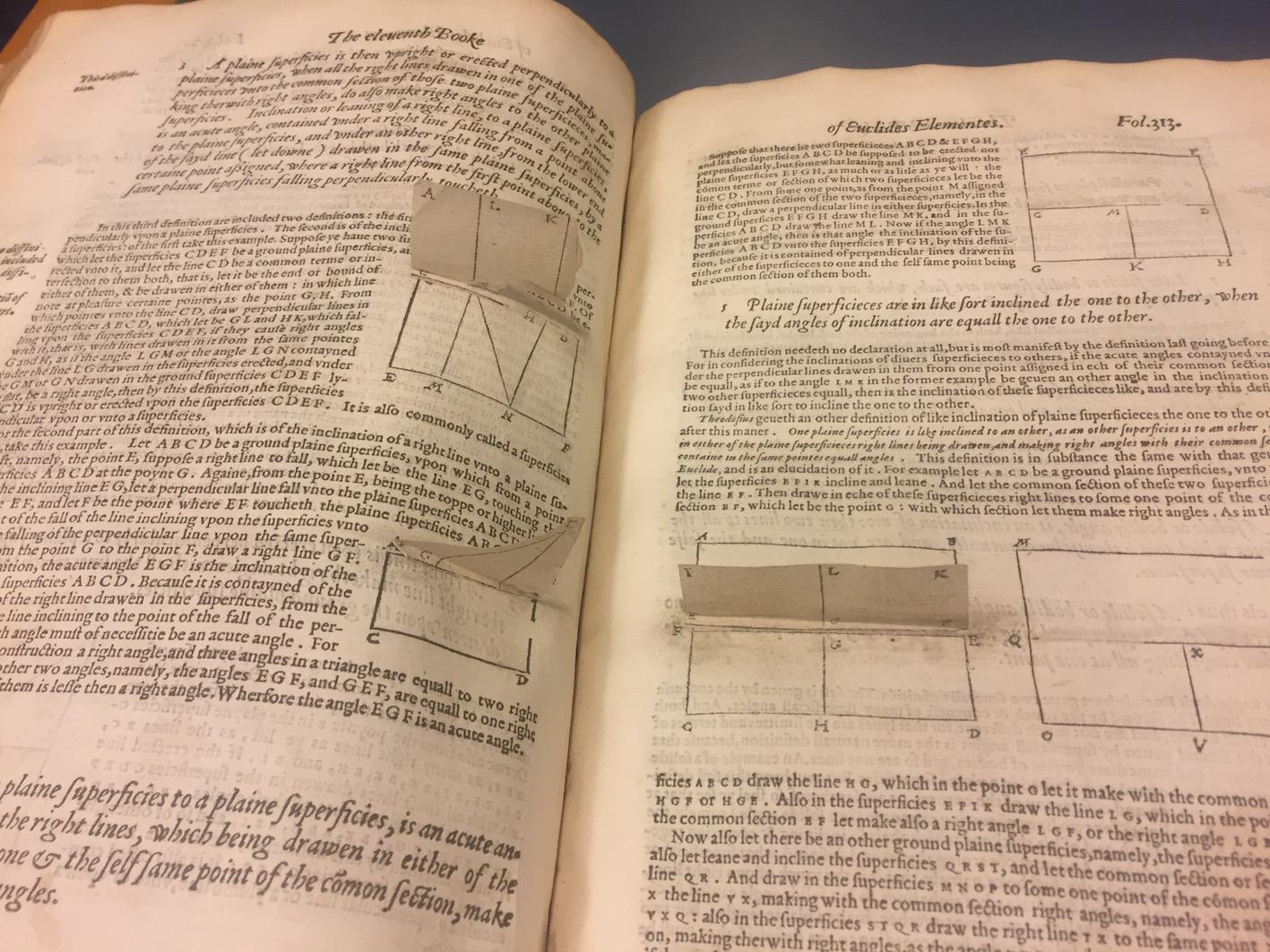 """""""Billingsley's Euclid (1570)."""""""