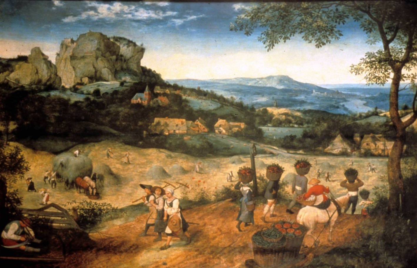 """Pieter Bruegel, The Hay Harvest, 1565 (Lobkowicz Collections, o.p.s.)."""