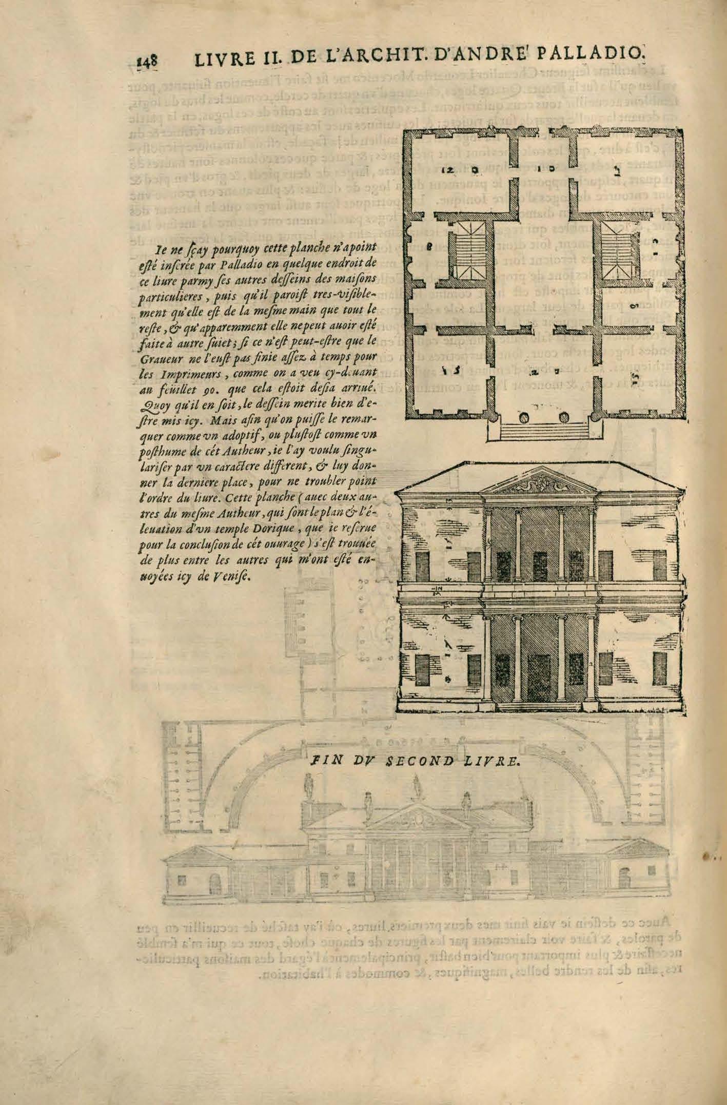 """""""Fig. 1. Les quatre livres de l'architecture d'André Palladio..., Paris, Edme Martin, 1650, p. 148."""""""