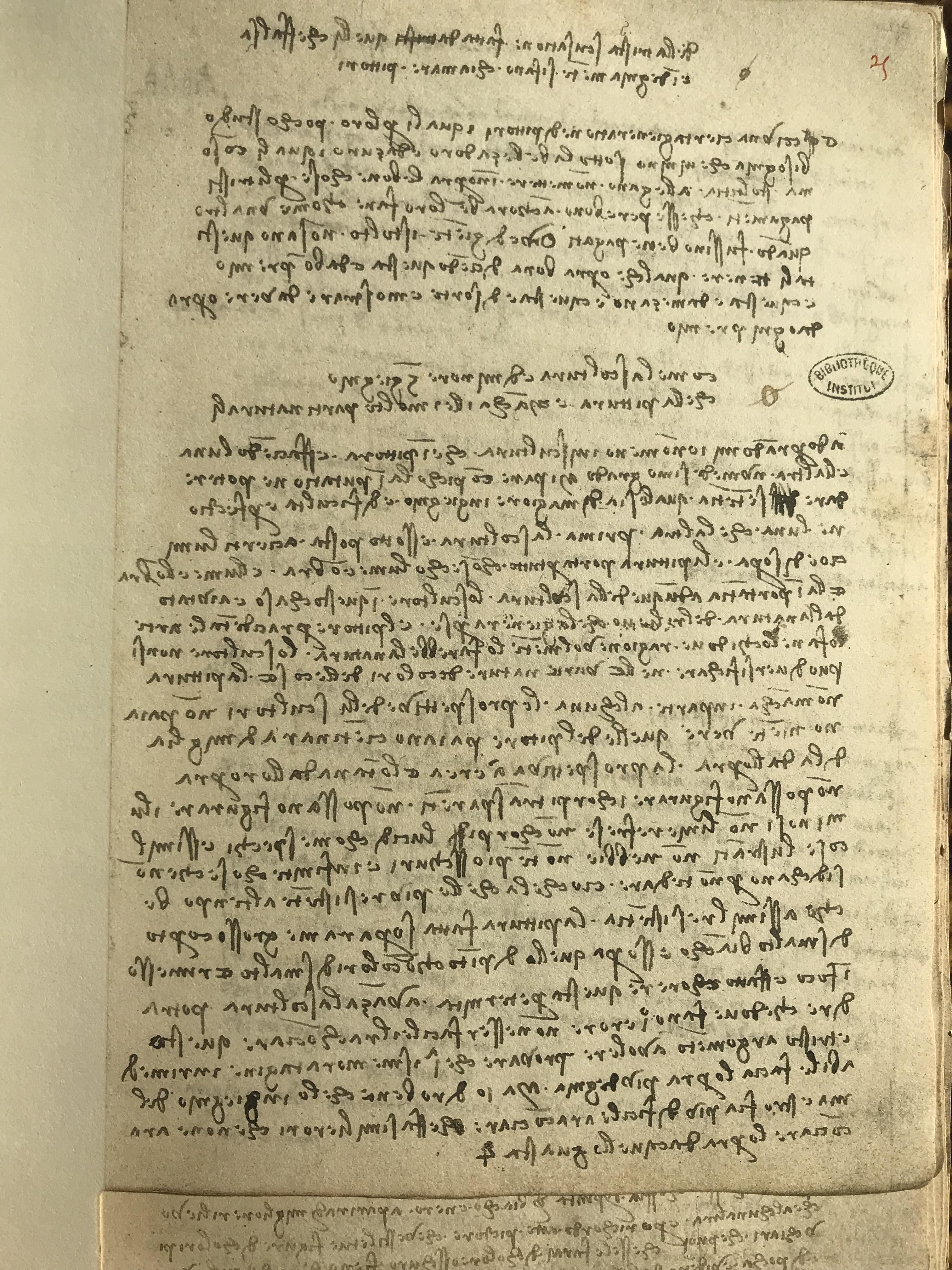 """Leonardo da Vinci's Manuscript A, fol. 105r"""
