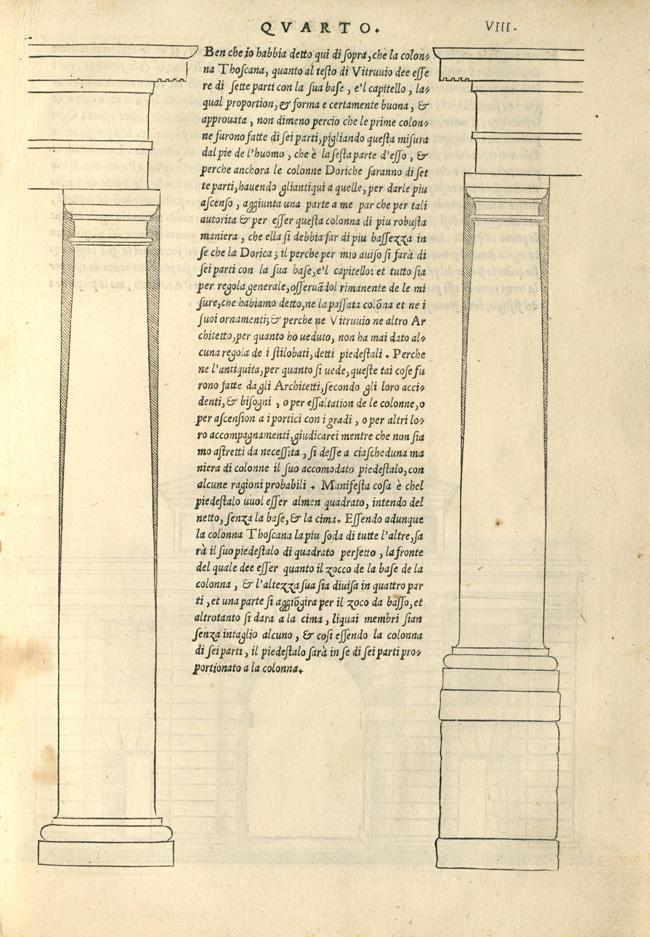 """""""Fig. 3. Sebastiano Serlio, Regole generali di architettura sopra le cinque maniere de gli edifici… (Venice: Francesco Marcolini, 1537), p. 8"""""""
