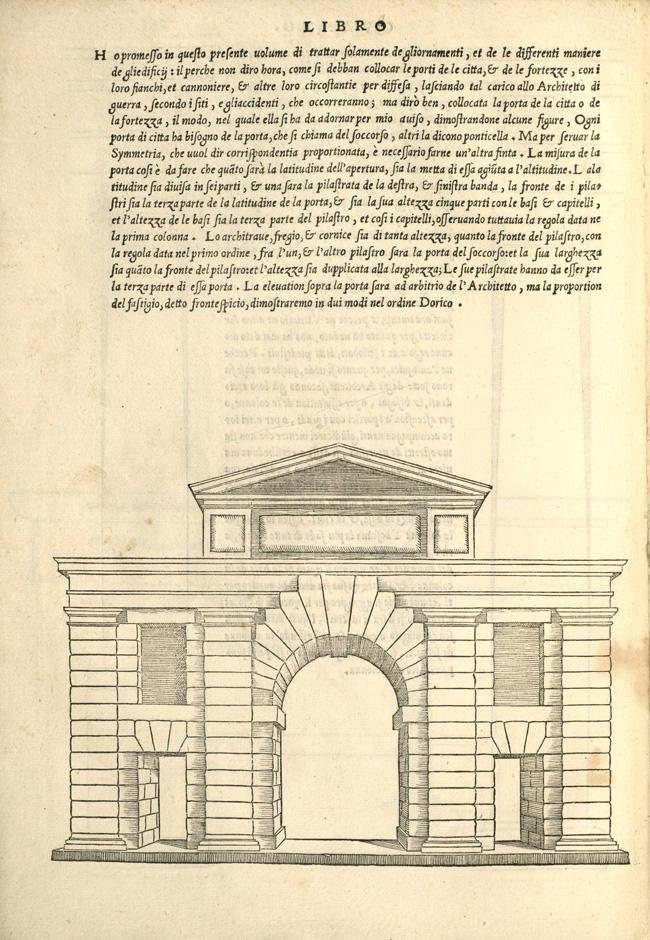 """""""Fig. 4. Sebastiano Serlio, Regole generali di architettura sopra le cinque maniere de gli edifici… (Venice: Francesco Marcolini, 1537), p. 9"""""""