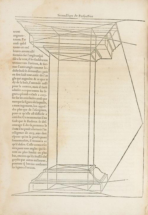 """""""Fig. 5. Le premier livre d'architecture de Sebastian Serlio… ; Le second livre de perspective (Paris, J. Barbé, 1545), p. 40v"""""""