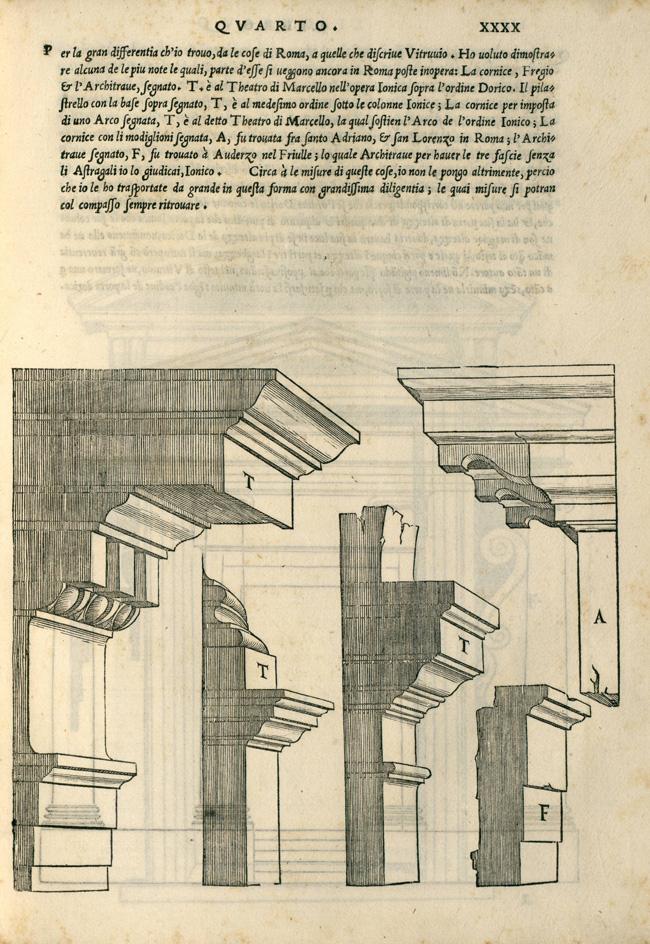 """""""Fig. 8. Sebastiano Serlio, Regole generali di architettura sopra le cinque maniere de gli edifici… (Venice: Francesco Marcolini, 1537), p. 40r"""""""