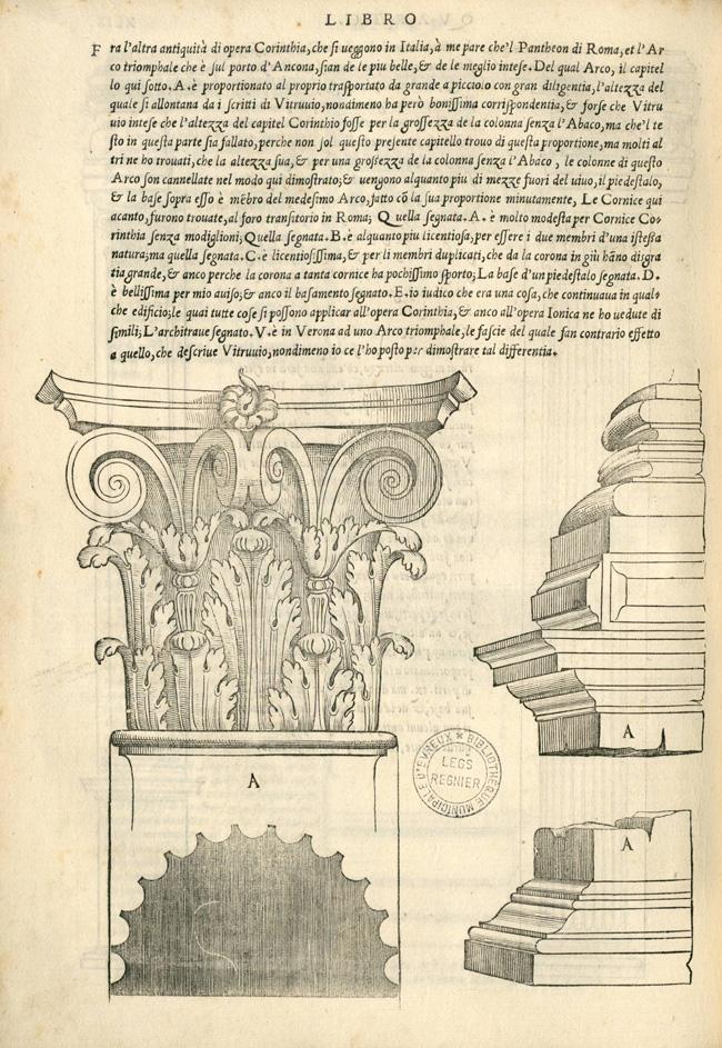 """""""Fig. 9. Sebastiano Serlio, Regole generali di architettura sopra le cinque maniere de gli edifici… (Venice: Francesco Marcolini, 1537), p. 49v"""""""