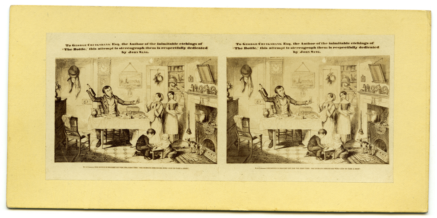 """""""John Sang's 2D to 3D conversion of one of George Cruikshank's etchings from The Bottle"""""""