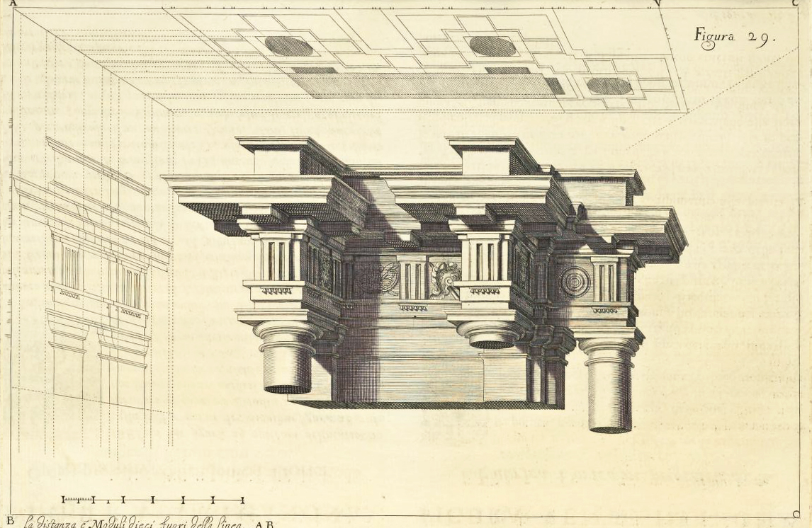"""Andrea Pozzo, Perspectiva Pictorum et Architectorum, vol. I (Rome, 1693), Figure 29. Getty Research Institute"""