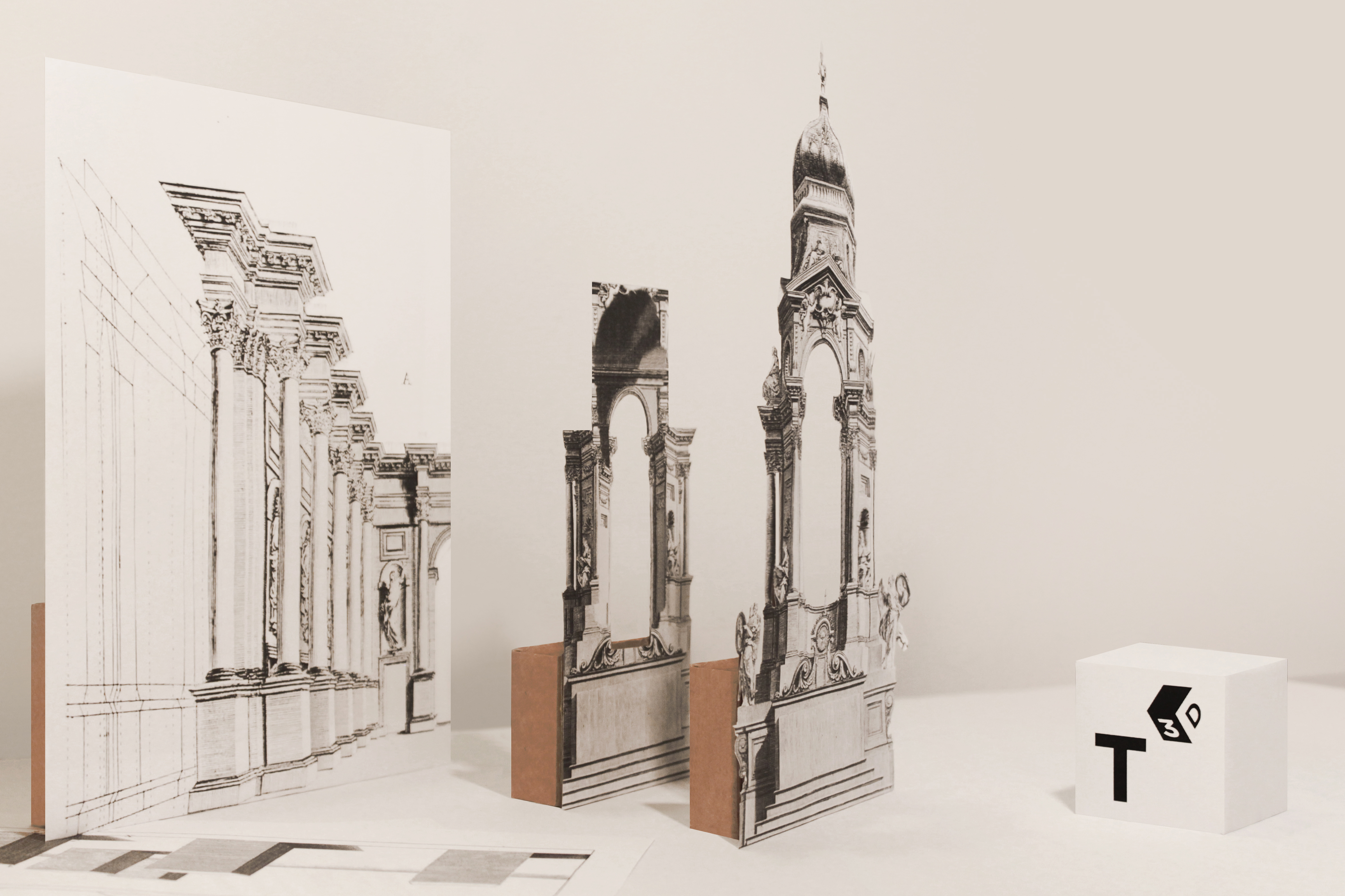 """Reconstruction of Pozzo's illusionistic altar (figures 60-61)"""