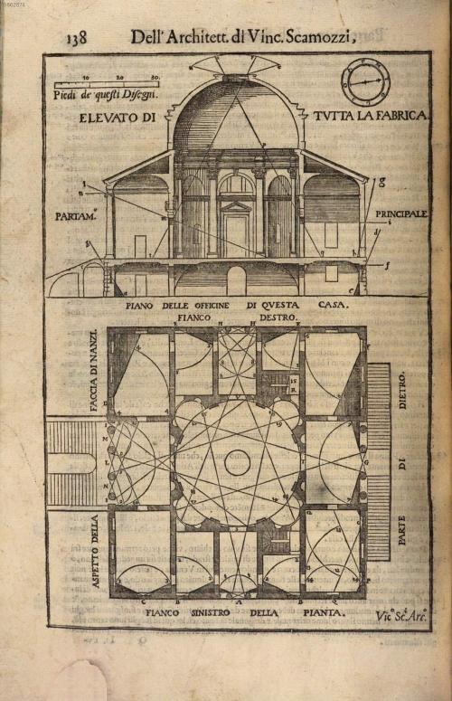 """""""Vincenzo Scamozzi, L'idea della architettura universale (Venice, 1615), vol. 1, p. 138."""""""