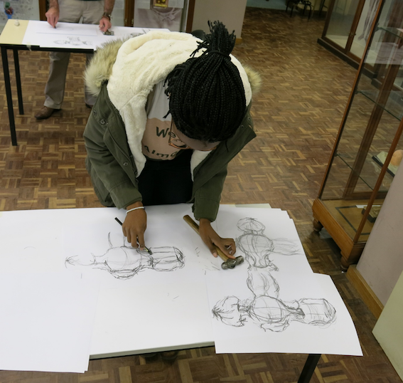 """""""Observing a non-anatomical object using touch and drawing. Anatomy Observation and Drawing, Special Studies Module (SSM) 2015, UCT Department of Human Biology."""""""