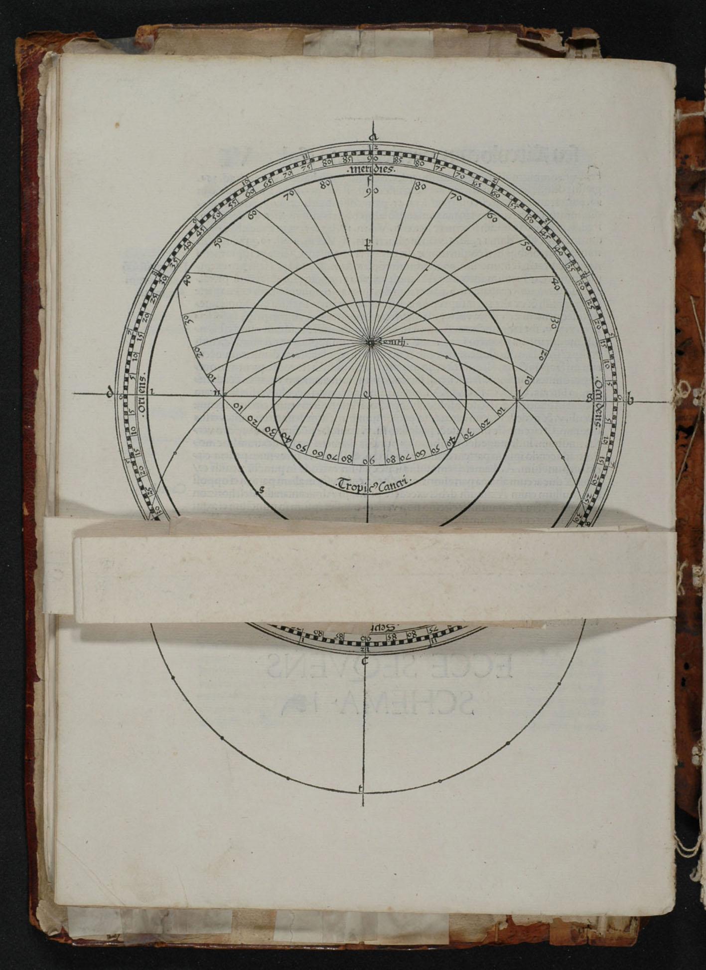 """""""J. Stöffler, Elucidatio, 1513, fol. 6v, folded page."""""""