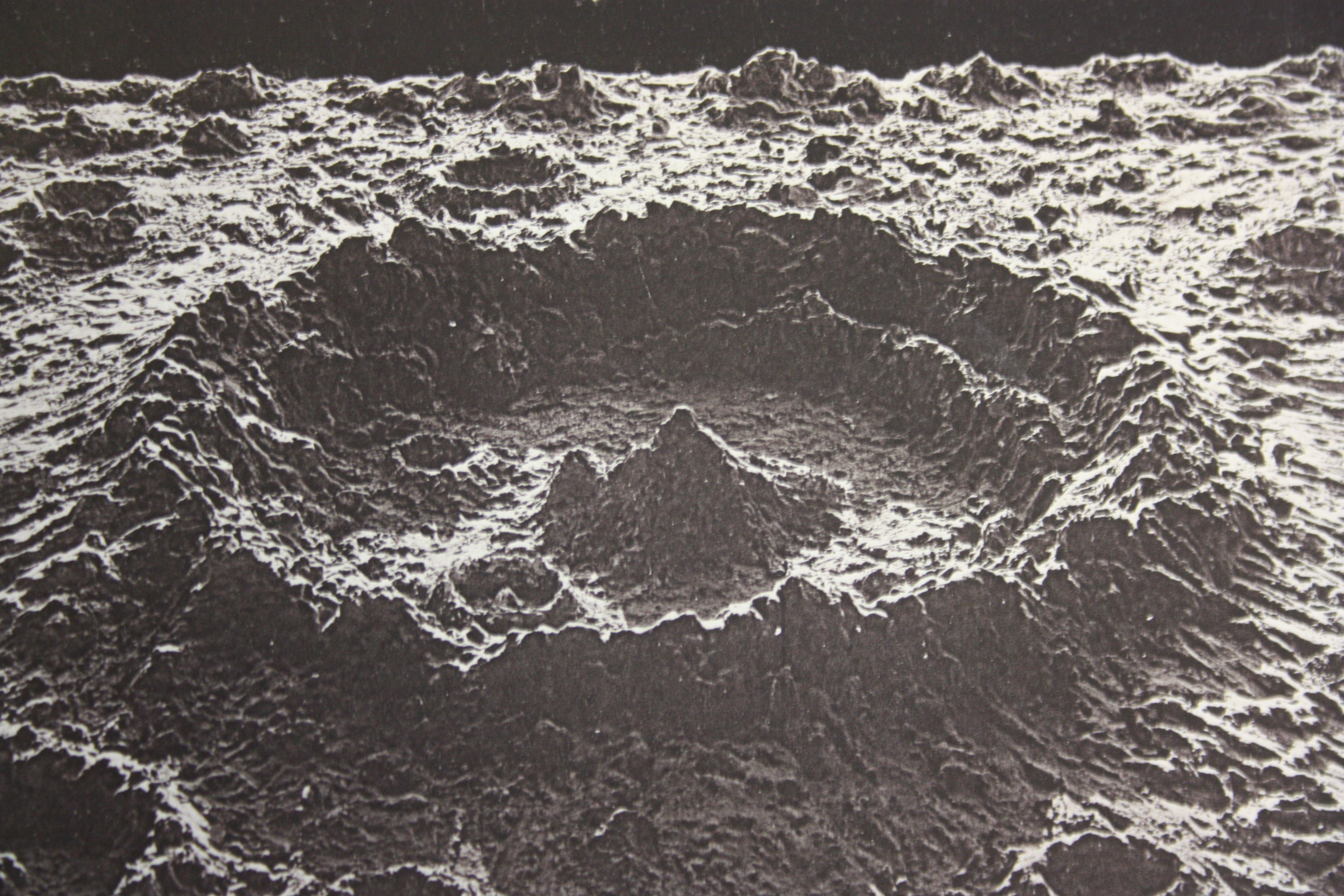 """Detail. Plate XXI in James Nasmyth and James Carpenter, The Moon: Considered as a Planet, a World, and a Satellite (London: John Murray, Albemarle Street, 1874), University of St Andrews Library, Photo QB581.N2C2"""