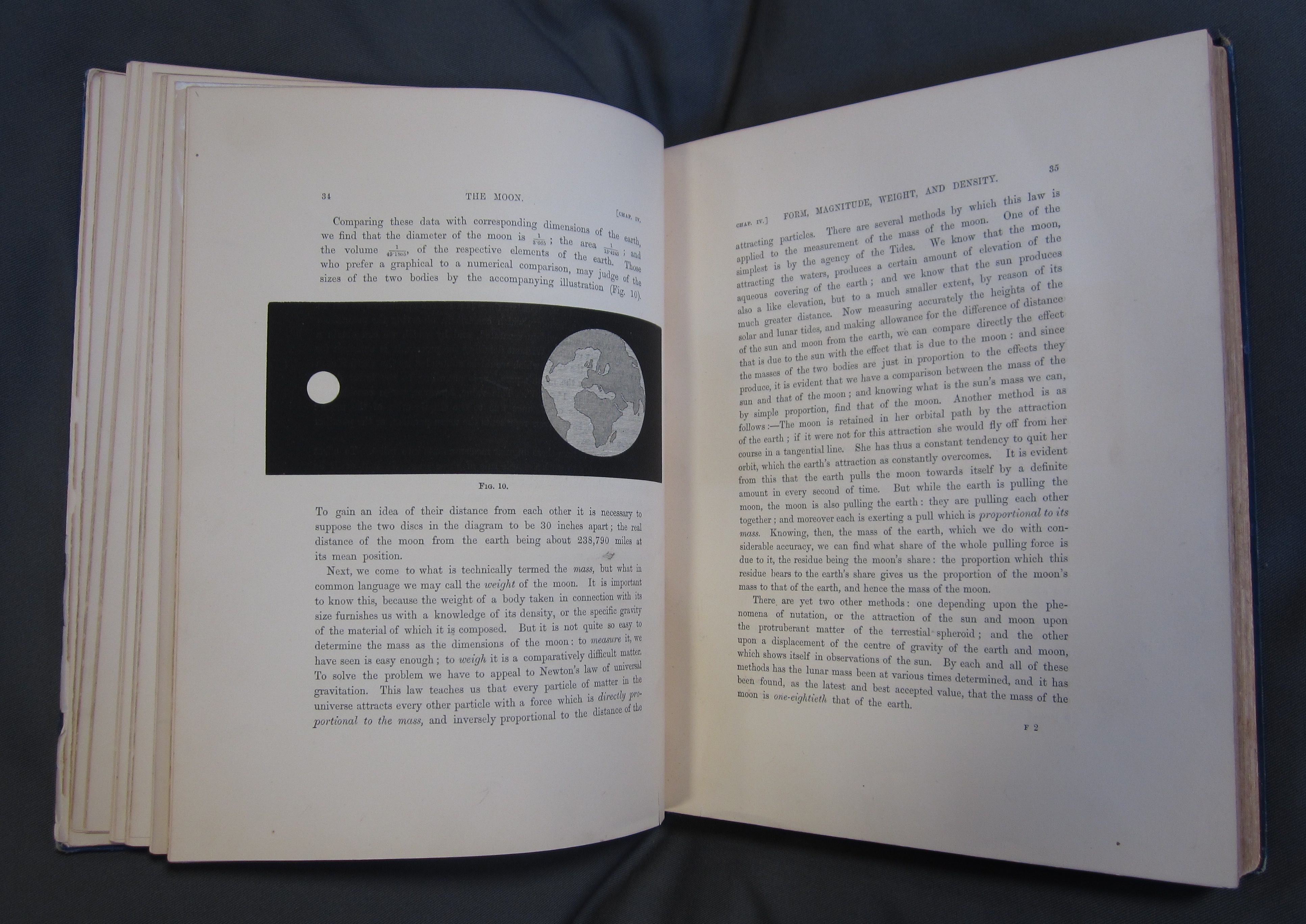 """James Nasmyth and James Carpenter, The Moon: Considered as a Planet, a World, and a Satellite (3rd edition, London: John Murray, Albemarle Street, 1885), pp. 34-35. University of St Andrews Library, Photo QB581.N2C2E85"""