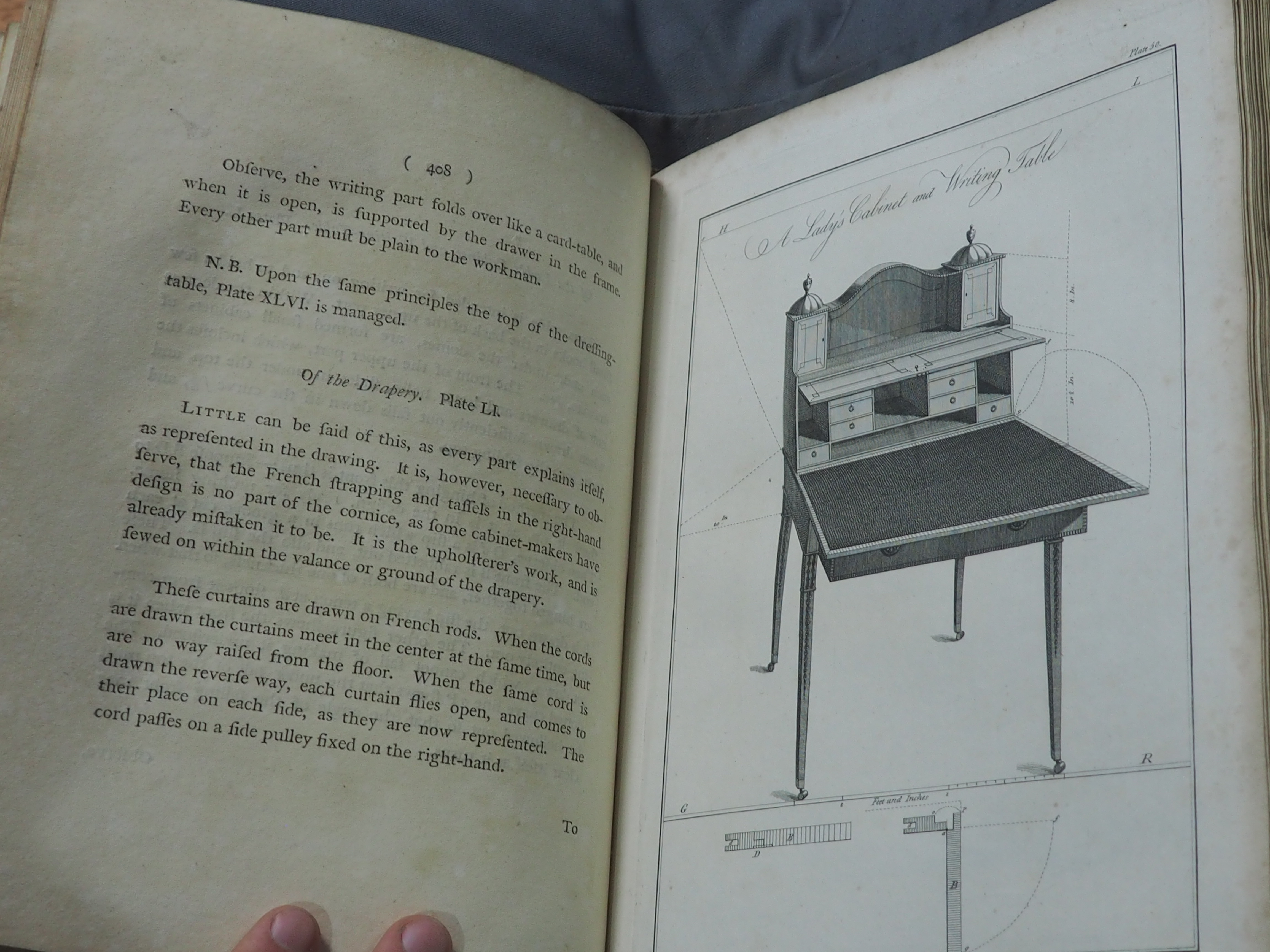 """Thomas Sheraton, ""A Lady's Cabinet"" in The Cabinet-Maker and Upholsterer's Drawing Book"""