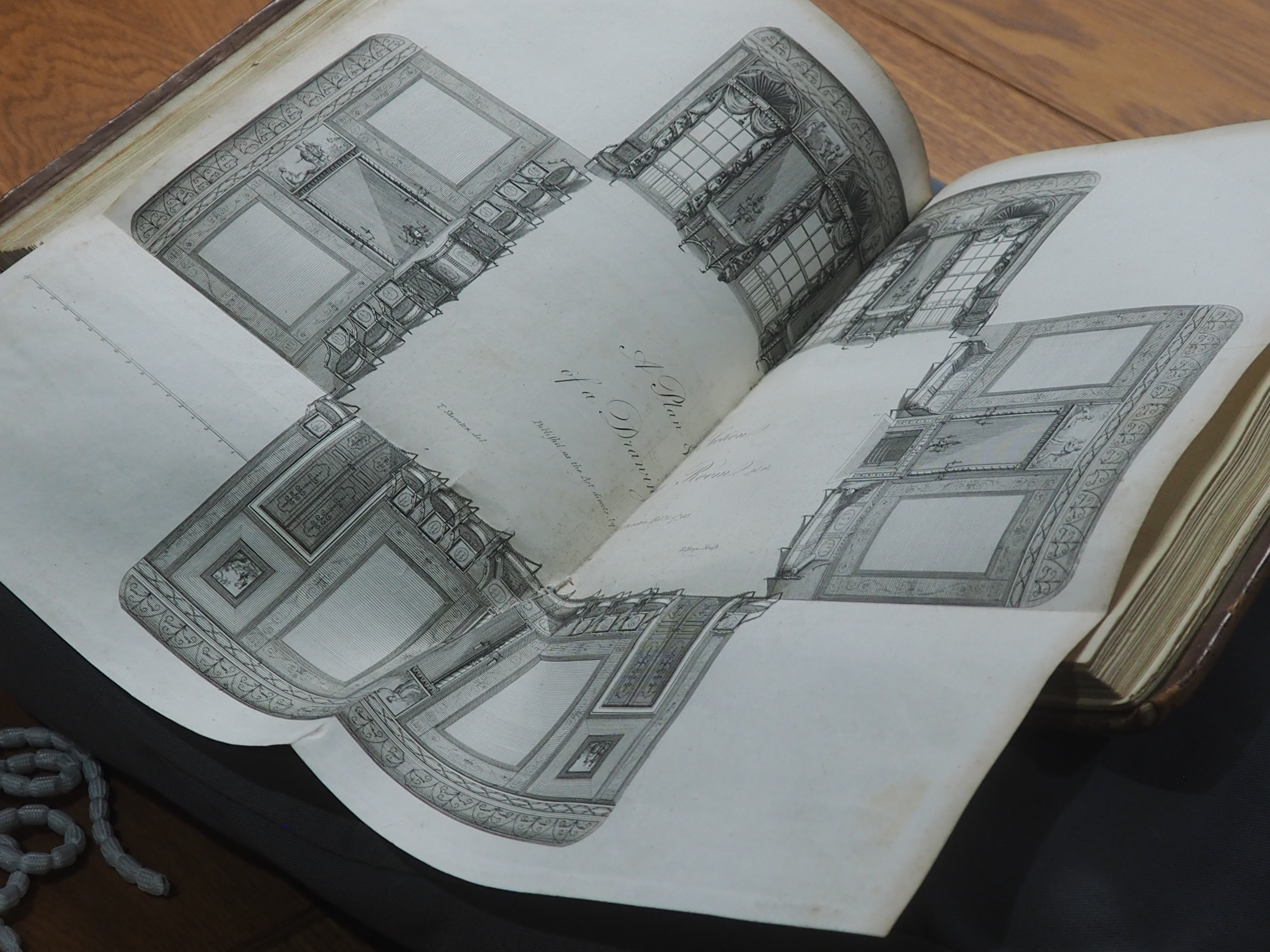 """Thomas Sheraton, Detail of ""A Drawing Room"" in The Cabinet-Maker and Upholsterer's Drawing Book"""