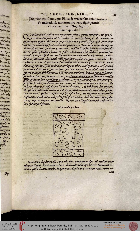 """""""Fig. 5. G. Philandrier, Annotationes castigatiores, & plus tertia parte locupletiores…, Lyon, 1552, p. 95"""""""